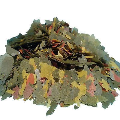 Marine Color Flake (Ultra Marine Fish Flakes, FREE 12-Type Blackworm/Color Pellet Blend Included.)