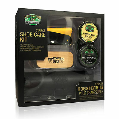 Moneysworth & Best 7 Piece Shoe Care Kit Polish Shine Brush Shoe