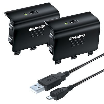 Dreamgear Xbox One Charge Kit 2x Controllers Rechargeable...