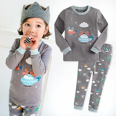 "Vaenait Baby Toddler Kids Boys Girls Clothes Pajama Set ""Hea"