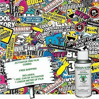 Hydrographic Film Water Transfer Hydro Dip 6oz. Activator Sticker Bomb 7 Kit