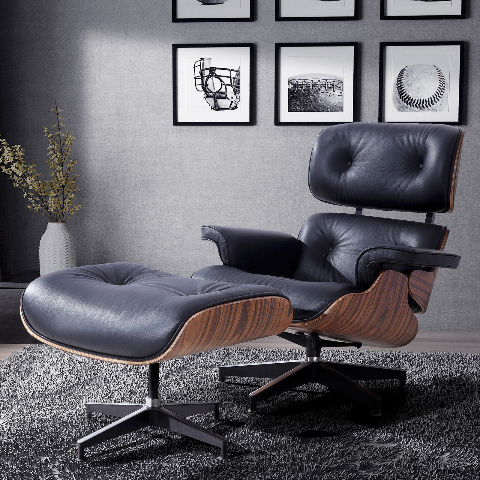 100 Italian Leather Lounge Chair With