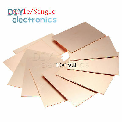 1510pcs 1015cm Fr4 Doublesingle Pcb Copper Clad Laminate Board Us