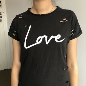 GUESS LOVE RIPPED TEE