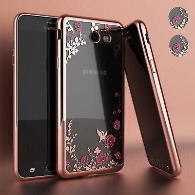 Samsung Galaxy J3 Luna Pro / J3 Emerge Luxury Crystal Bling TPU Clear Case Cover