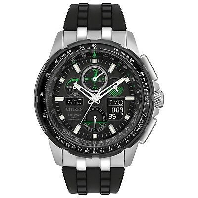 Citizen Eco-Drive Men's JY8051-08E Skyhawk A-T Black Rubber Strap 47mm Watch