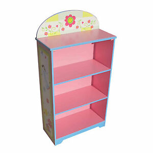 KIDS-BOOKCASE-CHILDRENS-BOOKSHELF-TODDLERS-STORAGE-FLORAL-AND-FAIRY-BOOKSHELF