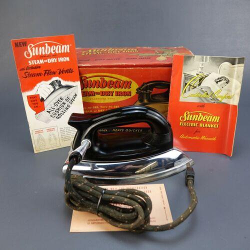 Sunbeam Ironmaster A-4 vintage Iron 1000 Watts RIGHT HAND ORIGINAL Box 1940