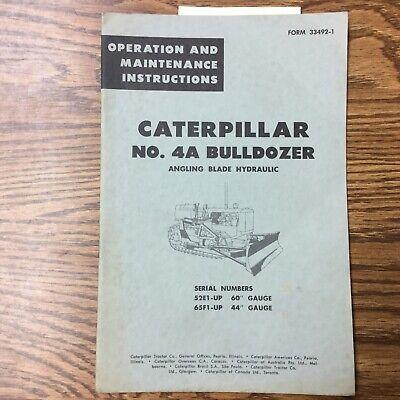 Cat Caterpillar 4a Operation Maintenance Manual Guide Bulldozer Angle Blade D4