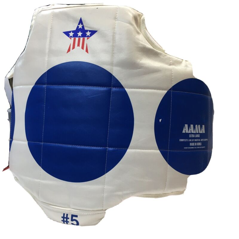 AAMA Martial Arts #5 Taekwondo Karate Reversible Sparring Chest Protector XL