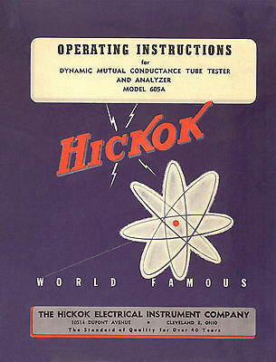 Hickok 605a Tube Tester Operation Manual