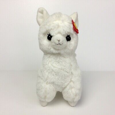 AMUSE Alpacasso White Girl Red Flower PHONE STAND (20cm) Arpakasso Alpaca Plush for sale  Shipping to United Kingdom