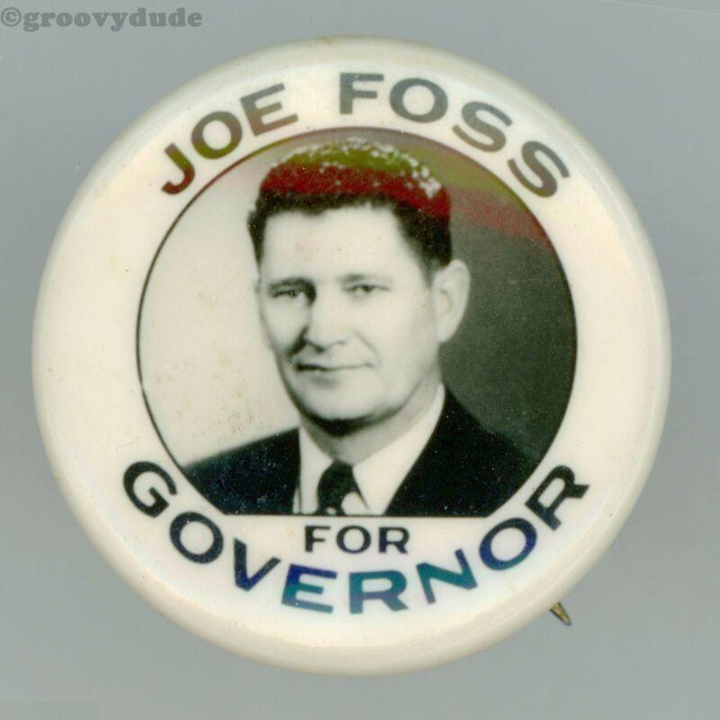 1954 Joe Foss For Governor South Dakota Political Campaign Pin Pinback Button