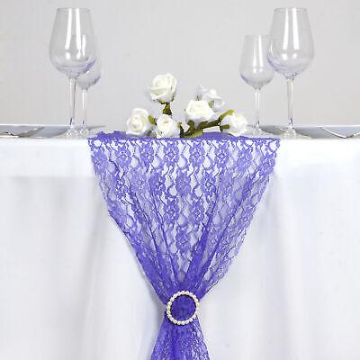 Royal Blue Table Decorations (ROYAL BLUE Floral Lace 12