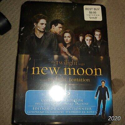 Blu ray The Twilight Saga New Moon Collector's Tin with figure