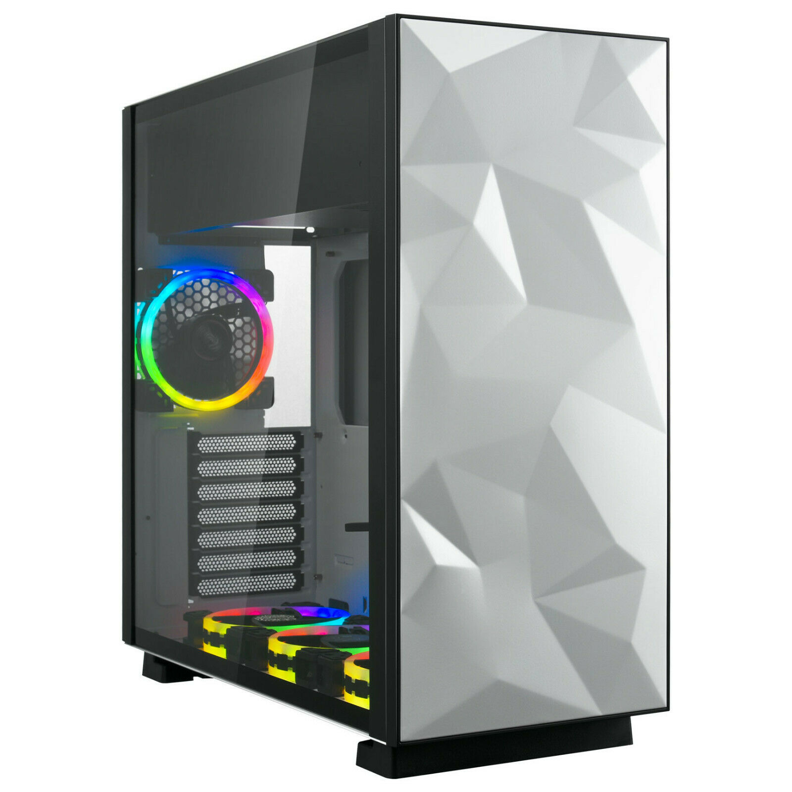 Rosewill ATX Mid Tower Gaming RGB Computer Case with Tempere