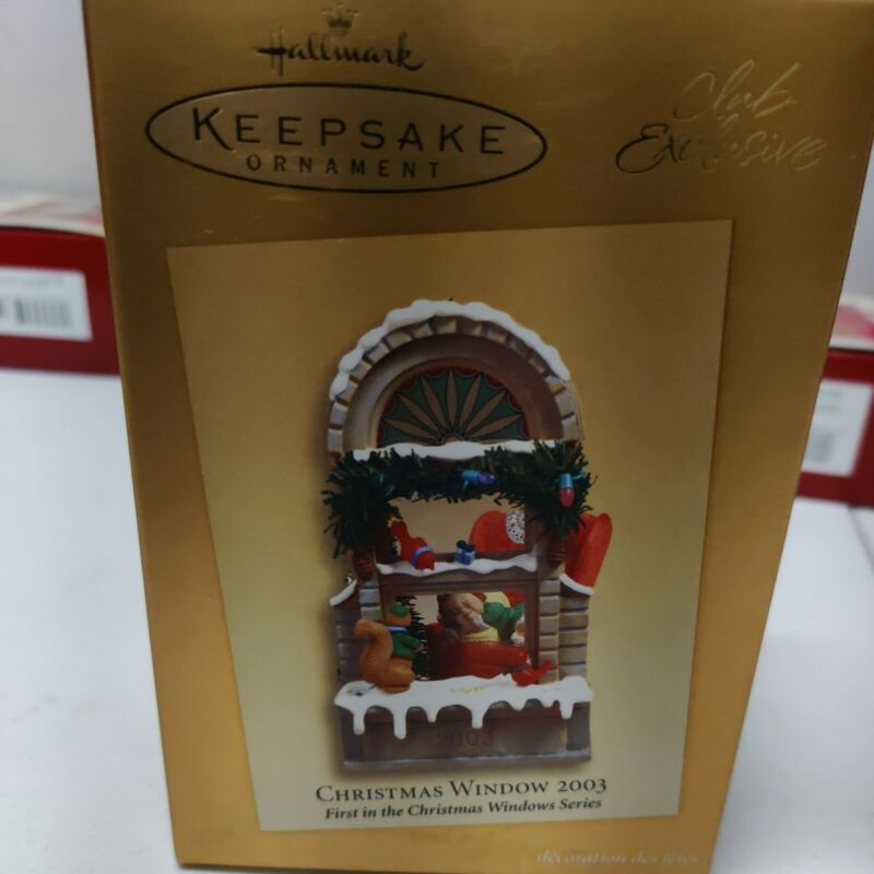 Hallmark Keepsake Ornament  Christmas Window  2003 club Exclusive