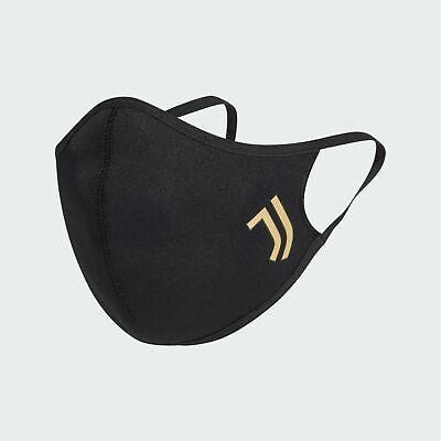 Adidas Face Cover Juventus Turin Mund-Nasen-Maske Gr. M/L Schwarz waschbar 60°C