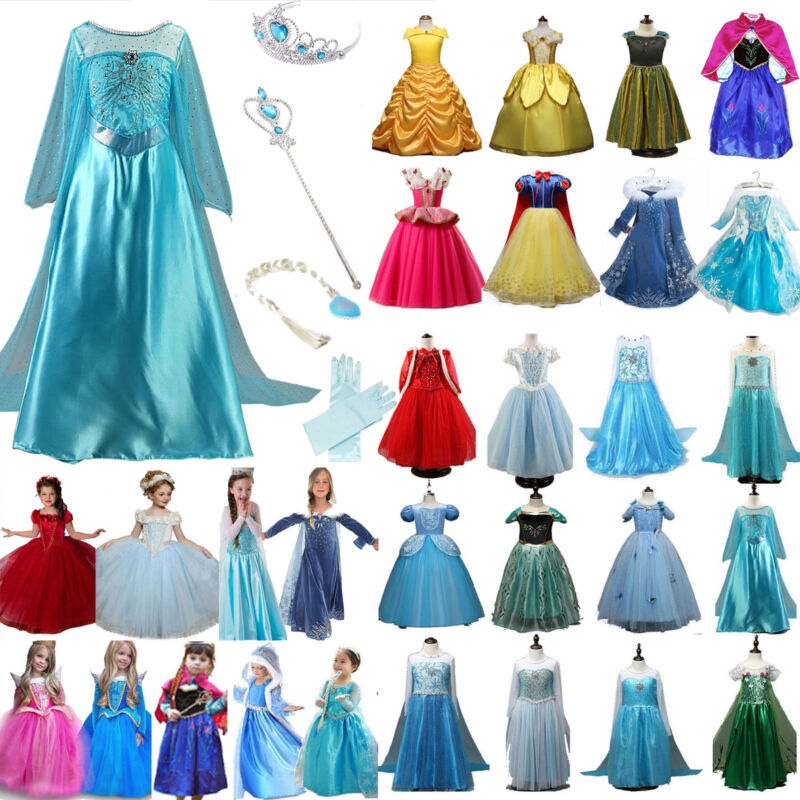 Frozen Elsa Witch Kostüm Prinzessin Kleid Kind Mädchen Party Karneval Halloween