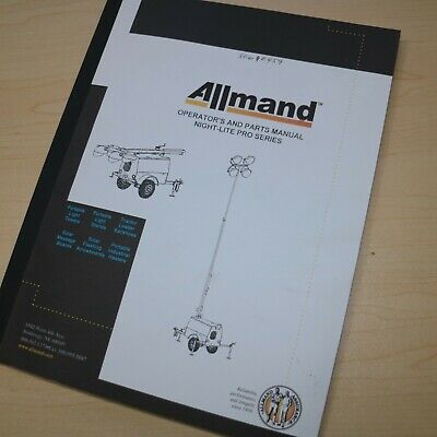 Allmand Night Lite Pro Series Light Tower Owner Operator Operation Parts Manual
