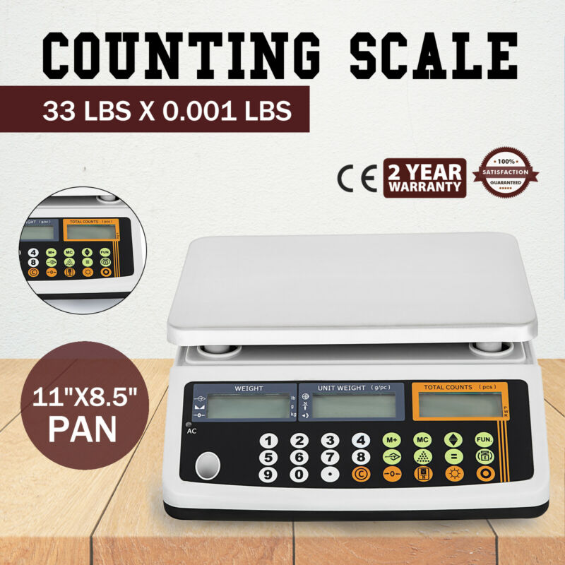 Digital Parts Coin Precise Counting Scale 33 Lb X 0.001 Lb Count Zero function