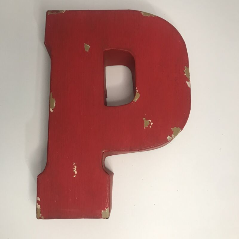 letter P decor decoration wall hanging Distressed Look Ashland