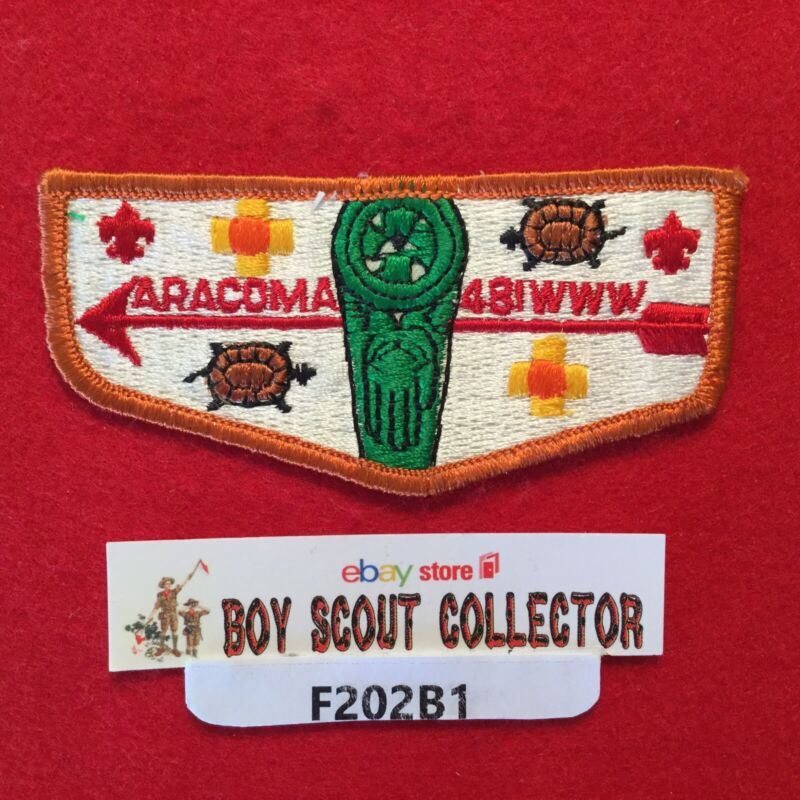 Boy Scout OA Aracoma Lodge 481 S4 Order Of The Arrow Flap Patch