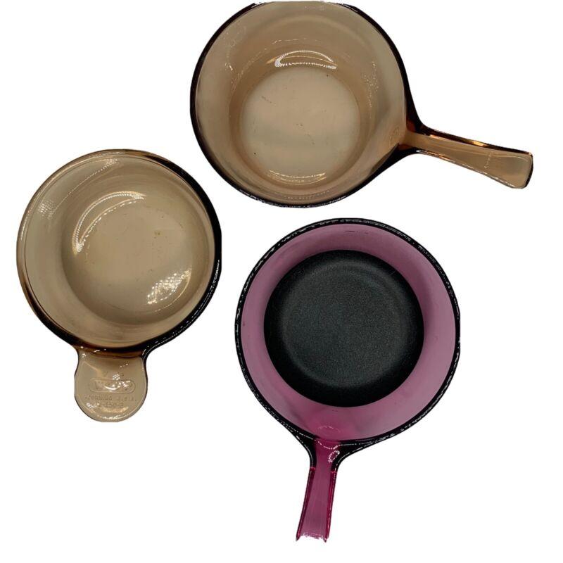 Visions Corning Ware Lot 3 Pans