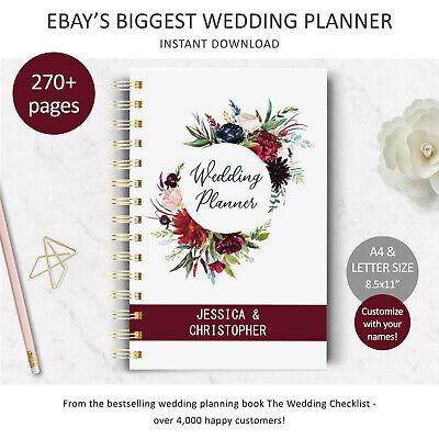 DIY Wedding Planner, Printable Wedding Checklist, Digital download, Bride - Wedding Planner Printable