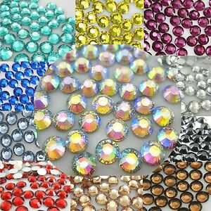 1000-10000pcs-3mm-6mm-14-Facets-Resin-Rhinestone-Flatback-Multiple-Color-Crystal