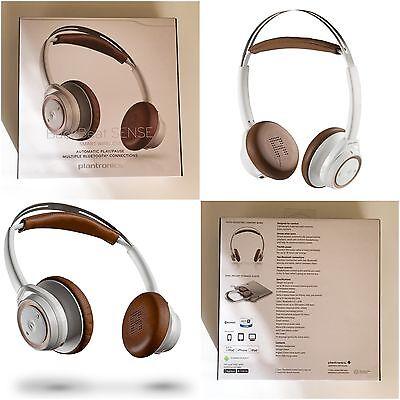 Plantronics BackBeat Head Wireless Headphones + Mic (White) BRAND NEW SEALED