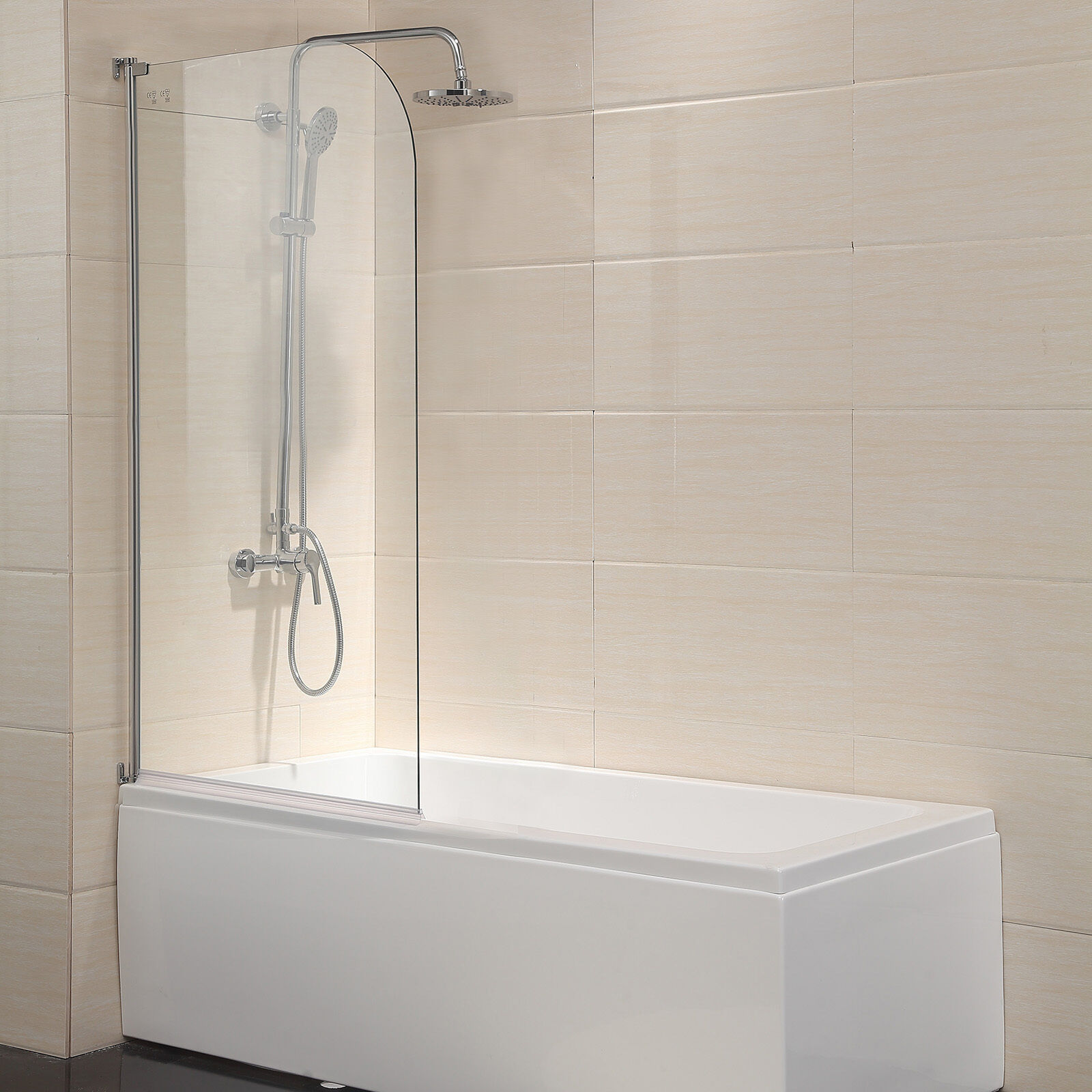 55x31 Glass Shower Door 14 Clear Frameless Glass Pivot Radius