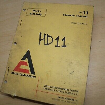 Allis Chalmers Hd11 Crawler Tractor Spare Parts Manual Book Catalog List Guide