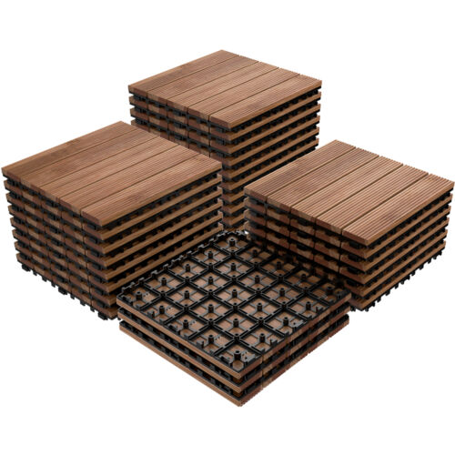 Polyethylene Interlocking Deck Tiles Patio Outdoor Indoor Flooring Pack Cover For Sale Online | EBay