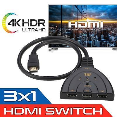 3 Port HDMI 1080P Multi Switch Splitter Cable Switcher HUB Box HDTV PS3 Xbox