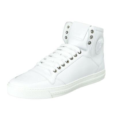 Versace Men's White Leather Medusa Hi Top Fashion Sneakers Shoes  Sz 8 11 12