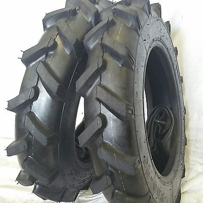 Two 5.00-15 Road Warrior Tires With Tubes Compact Tractor Tire Lug 500 15 R1