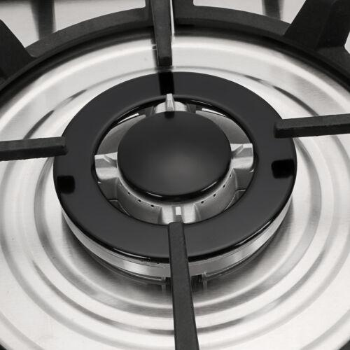"""METAWELL 30"""" Stainless Steel 5Burner Built-In NG LPG Gas"""