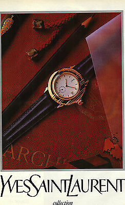 PUBLICITE ADVERTISING 1990 YVES SAINT LAURENT Boutique MONTRES            271212 (Boutique Yves Saint Laurent)
