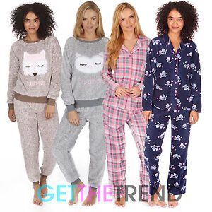 femmes polaire pyjama ensemble chaud hiver polaire pjs. Black Bedroom Furniture Sets. Home Design Ideas