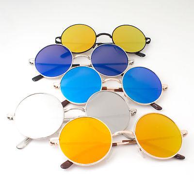 John Lennon Sunglasses Round Hippie Shades Retro Mirrored Colored Lenses Retro (Hippie Shades)
