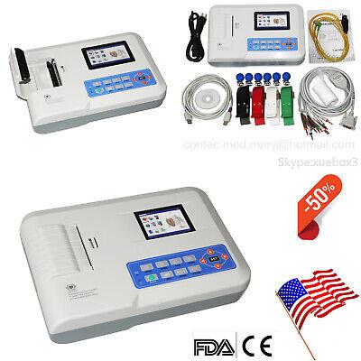 Ecg300g Digital 3-channel 12-lead Electrocardiograph Ecg Machine Pc Sw Us Sell