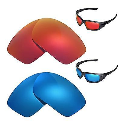 1be8a2cb56 New Walleva Polarized Fire Red+Ice Blue Replacement Lenses For Oakley  Scalpel