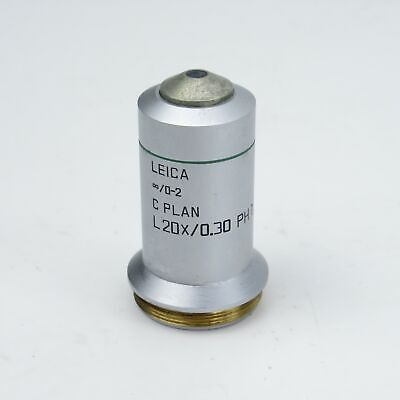 Leica C Plan L 20x0.30 0-2 Ph1 Phase Contrast Microscope Objective - 506152