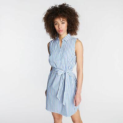 Nautica Womens A-Line Poplin Dress In Stripe