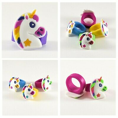 Party Favors Kids Unicorn Rings Birthday Goody Bag Filler Loot Jewelry ()