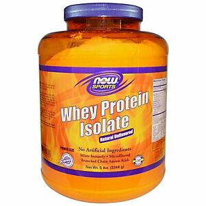 Now Sports Nutrition, Whey Protein Isolate Powder, Unflavore