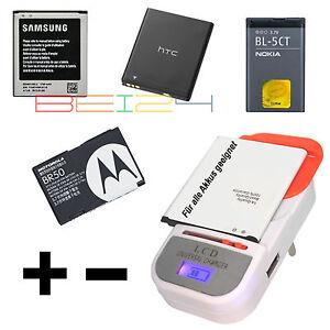 Universal Batterie Akku Ladegerät Charger LCD Anzeige USB-Port für Kamera NEU