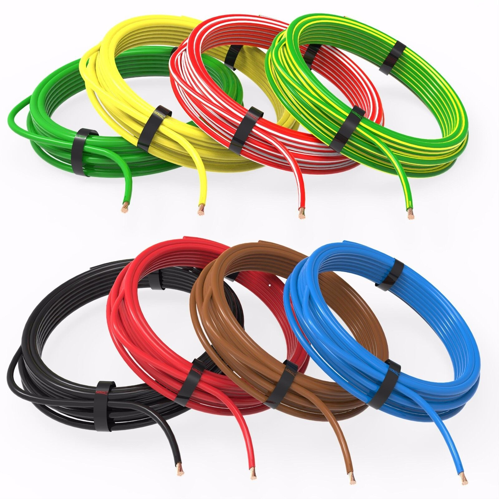 Round Cable 7x15mm Automotive Wire Trailer Electrical Wiring Supplies Auprotec 1m 20m 40 Mm Thinwall Auto 8 Colours