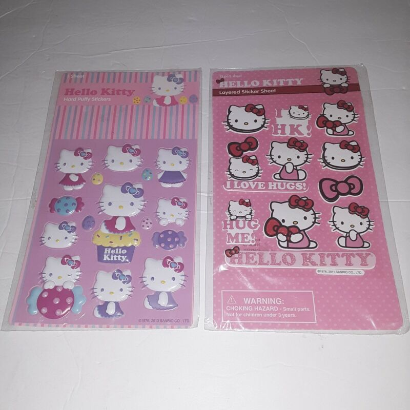Sanrio Hello Kitty Puffy and Layered Stickers New